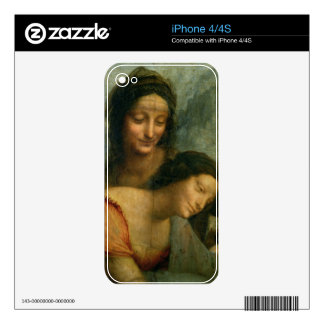 Detail of the Virgin and St. Anne from The Virgin Skin For The iPhone 4S