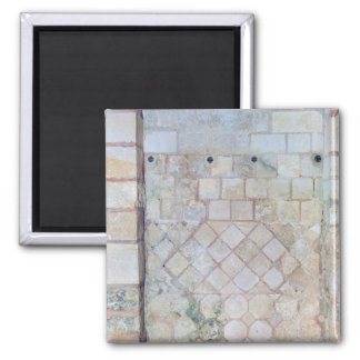 Detail of the wall of the Crypt of St. Paul 2 Inch Square Magnet