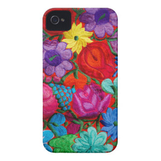 Detail of traditional embroidery floral textile iPhone 4 Case-Mate case