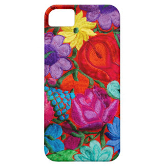 Detail of traditional embroidery floral textile iPhone SE/5/5s case