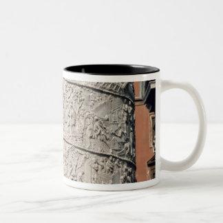 Detail of Trajan's Column Two-Tone Coffee Mug