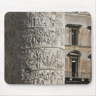 detail of Trajan's Column with buildings behind Mouse Pad