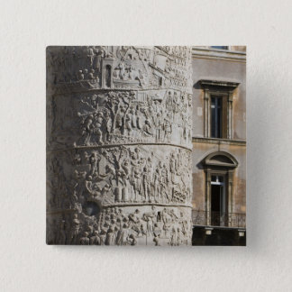 detail of Trajan's Column with buildings behind Pinback Button