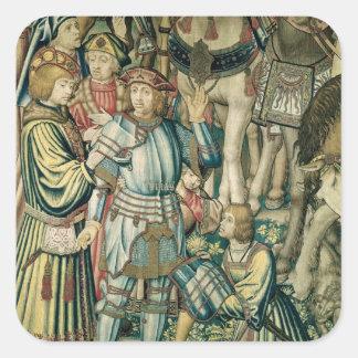Detail of Uriah the Hittite Square Sticker