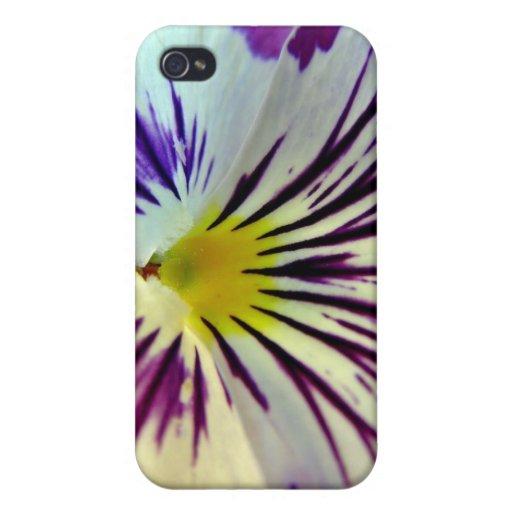 Detail of veins in purple flower iPhone 4/4S case