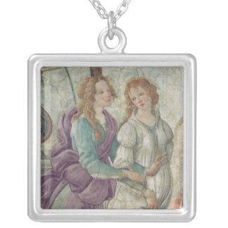 Detail of Venus and the Graces Square Pendant Necklace