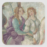 Detail of Venus and the Graces Square Stickers