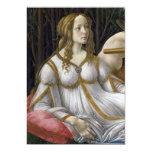 "Detail of Venus, Venus and Mars by Botticelli 5"" X 7"" Invitation Card"
