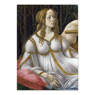Detail of Venus, Venus and Mars by Botticelli Invitations