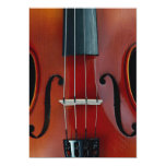 Detail of violin and strings personalized invite