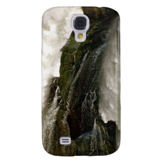 DETAIL OF WATERFALL OVER MOSSY BOULDER SAMSUNG GALAXY S4 CASE
