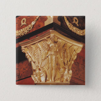 Detail of winged victory pinback button
