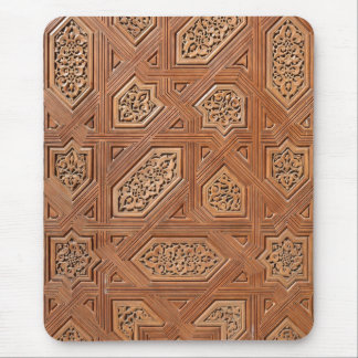 Detail of wooden door in Alhambra Mouse Pads