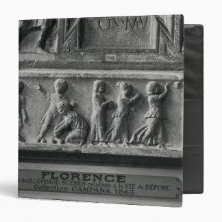 Detail sarcophagus depicting children playing binder