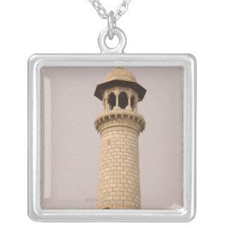 Detail, Taj Mahal, Agra, Uttar Pradesh, India Silver Plated Necklace