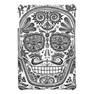 Detailed Black & White Sugar Skull iPad Mini Case
