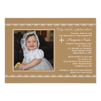 "Detailed Borders Photo Invitation 5"" X 7"" Invitation Card"