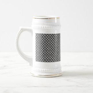 Detailed Carbon Fiber Textured Beer Stein