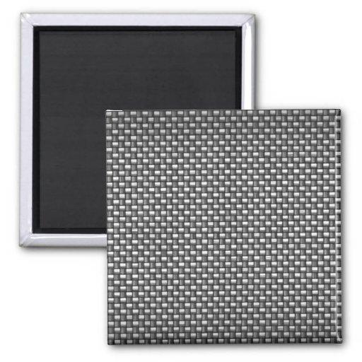 Detailed Carbon Fiber Textured Fridge Magnets