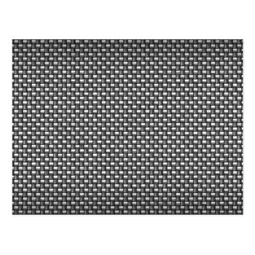 Detailed Carbon Fiber Textured Postcards