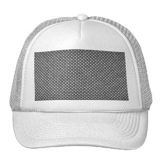 Detailed Carbon Fiber Textured Trucker Hat