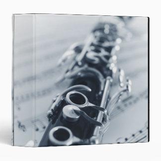 Detailed Clarinet 3 Ring Binder