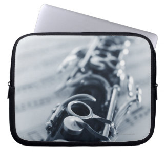 Detailed Clarinet Computer Sleeve
