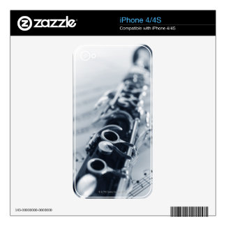 Detailed Clarinet Decals For iPhone 4