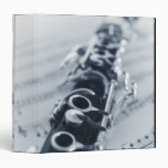 Detailed Clarinet Vinyl Binders