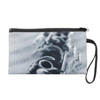 Detailed Clarinet Wristlet Purse