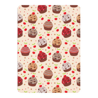 Detailed Cupcake Pattern Card