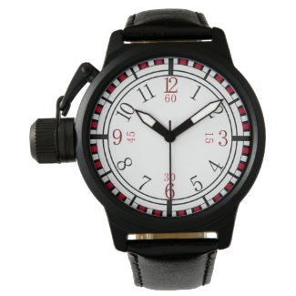 Detailed dial in different colors wrist watch