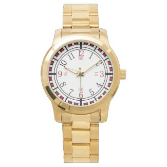 Detailed dial in different colors wristwatch