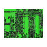 Detailed drawing green canvas prints