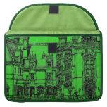 Detailed drawing green MacBook pro sleeve