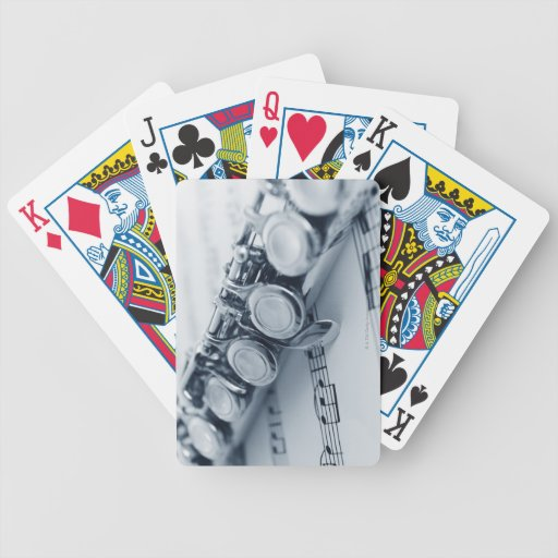 Detailed Flute Bicycle Playing Cards