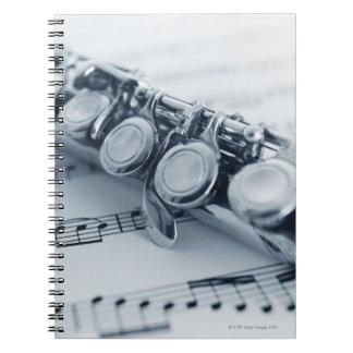 Detailed Flute Spiral Notebook