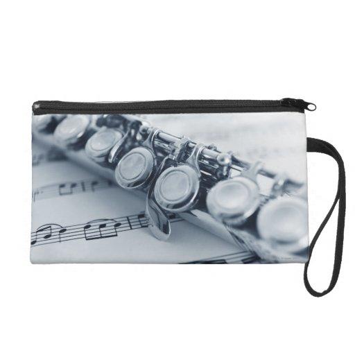 Detailed Flute Wristlet Purse
