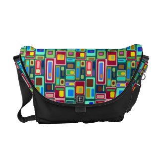 Detailed Geo color Courier Bag