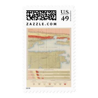Detailed Geology Sheet V Postage Stamp