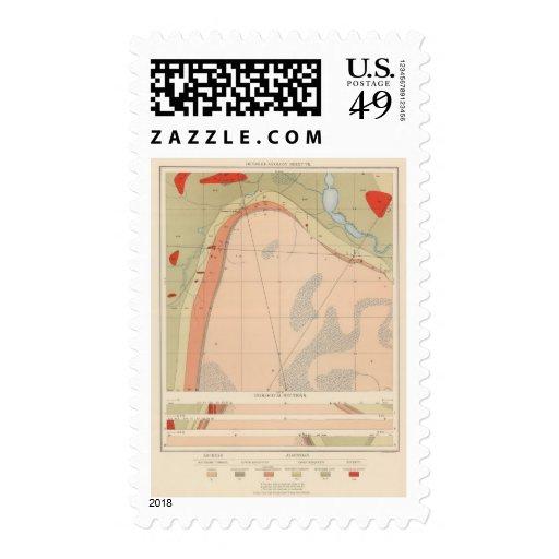 Detailed Geology Sheet VII Postage Stamps