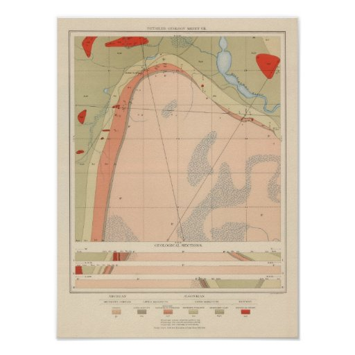 Detailed Geology Sheet VII Posters
