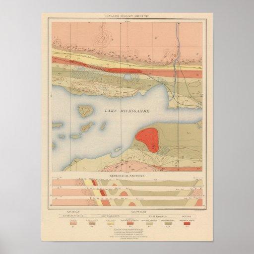 Detailed Geology Sheet VIII Print