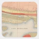 Detailed Geology Sheet VIII Square Sticker