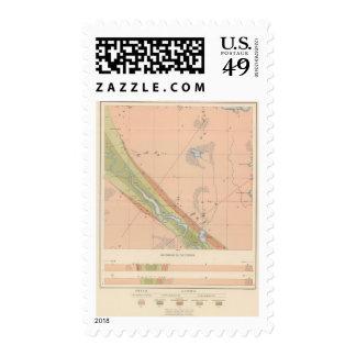 Detailed Geology Sheet X Postage Stamp