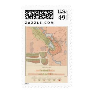 Detailed Geology Sheet XI Postage Stamp