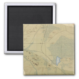 Detailed Geology Sheet XIX 2 Inch Square Magnet