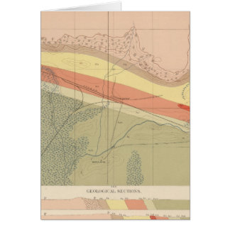 Detailed Geology Sheet XV Greeting Cards