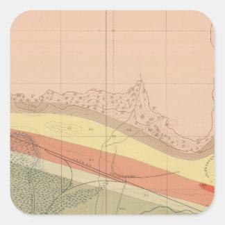 Detailed Geology Sheet XVI Square Sticker