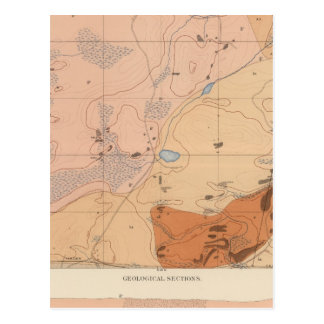 Detailed Geology Sheet XXI Post Card
